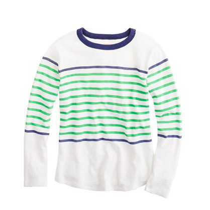 Boys' ringer T-shirt in engineered stripe
