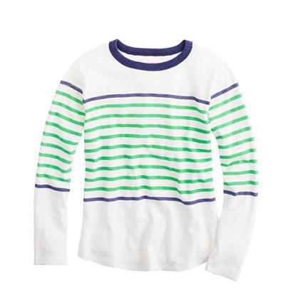 Boys' ringer T-shirt in engineered stripe
