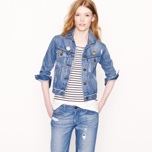 Pamela Love for J.Crew Lorimer jean jacket