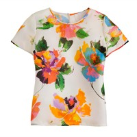 Collection silk pocket tee in Toulouse floral