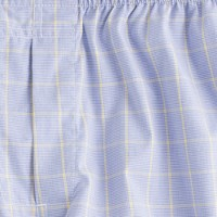 Glen plaid boxers in amber
