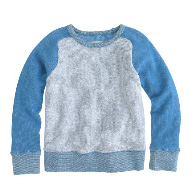 Boys' reverse baseball sweatshirt