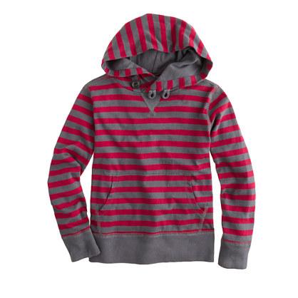 Boys' stripe popover hoodie
