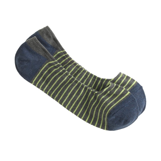 Striped no-show socks