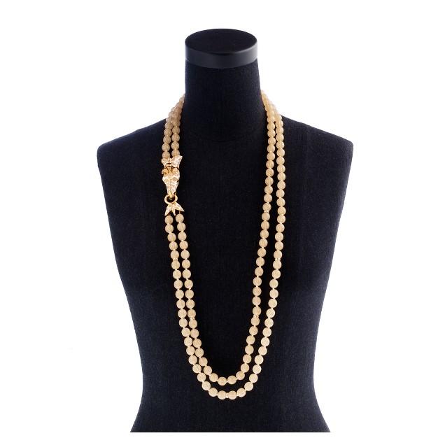 Double-strand giraffe necklace