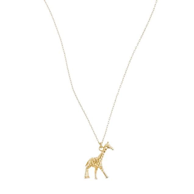 Giraffe charm necklace