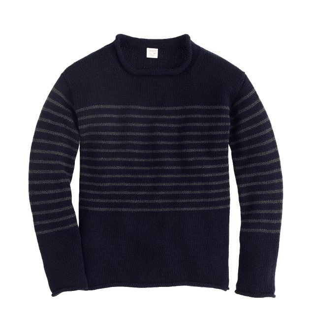 Boys' engineered-stripe rollneck™ sweater
