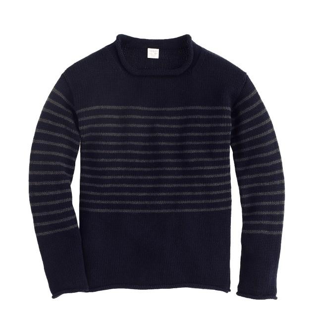 Boys' engineered-stripe rollneck™ sweater