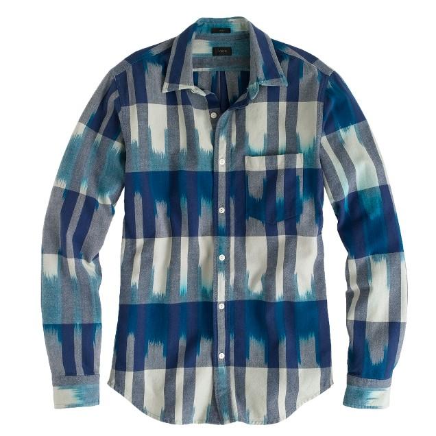 Slim indigo ikat shirt