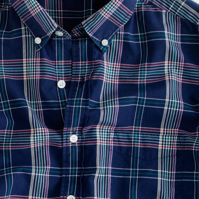 Tartan shirt in classic navy