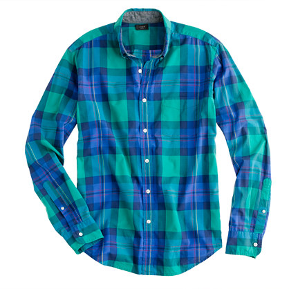 Tartan shirt in felt green