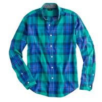 Tartan shirt in felt green