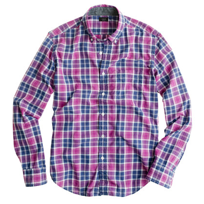 Slim tartan shirt in manor purple
