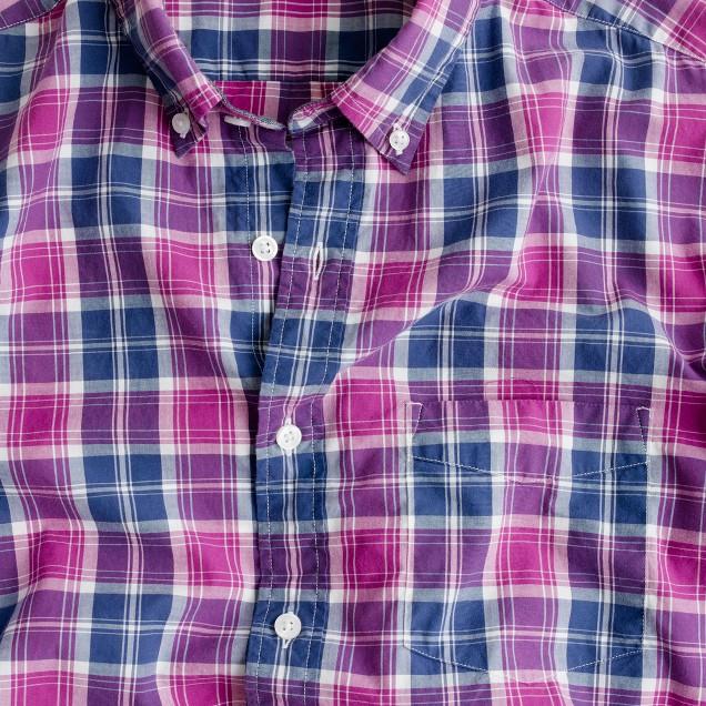 Slim tartan shirt in manor purple