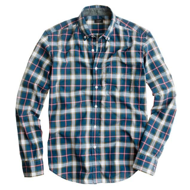 Tartan shirt in burnished spruce