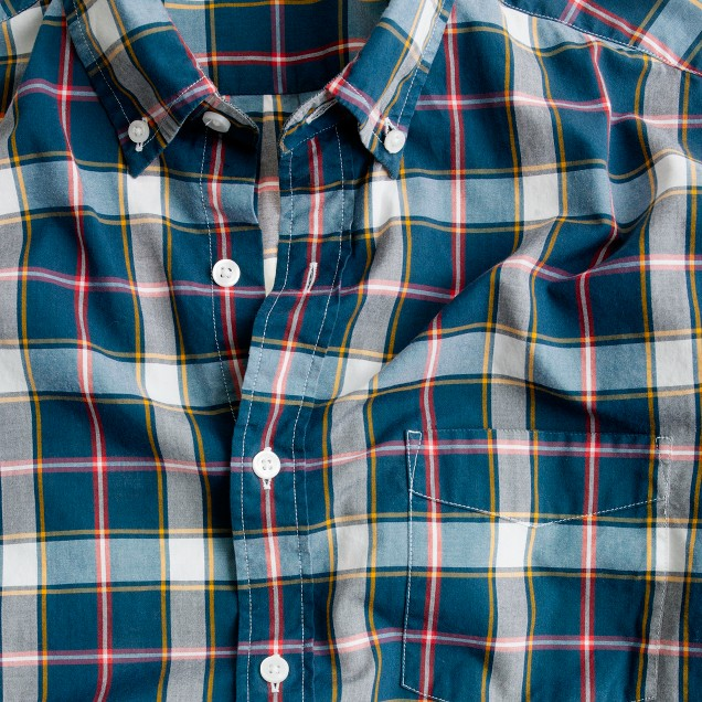Tartan shirt in burnished spruce