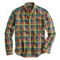 Tartan shirt in warm cider