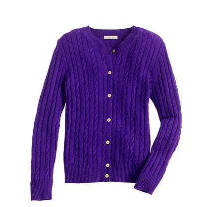 Girls' tiny-cable cardigan