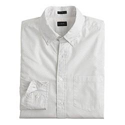 Slim Secret Wash shirt in pindot
