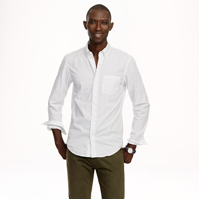 Slim Secret Wash shirt in pindot