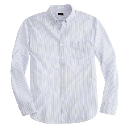 Slim Secret Wash shirt in Atlantic stripe