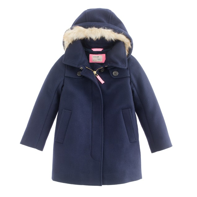 Girls' wool-cashmere duffle coat with Thinsulate® : | J.Crew