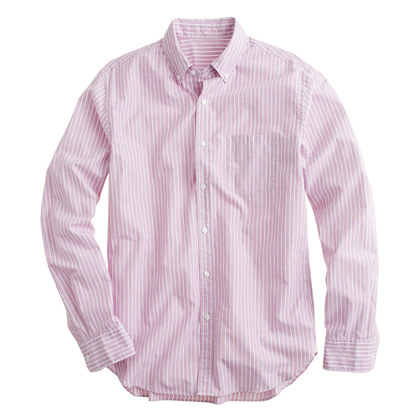 Secret Wash end-on-end shirt in pencil stripe