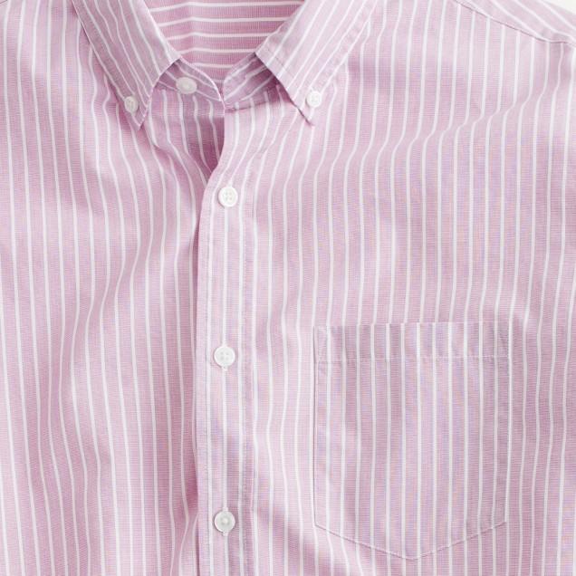 Secret Wash end-on-end shirt in pencil stripe