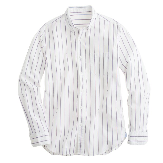 Secret Wash shirt in blue sapphire stripe