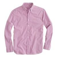 Secret Wash shirt in microgingham