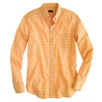 Secret Wash shirt in golden mustard gingham