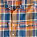 Slim flannel shirt in Caribbean blue plaid