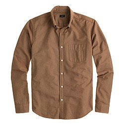 Slim vintage oxford shirt in tonal cotton
