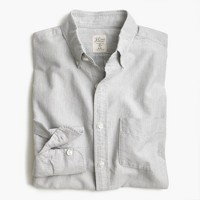 Slim vintage oxford shirt in heathered cotton