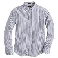 Slim Secret Wash shirt in dark forest stripe