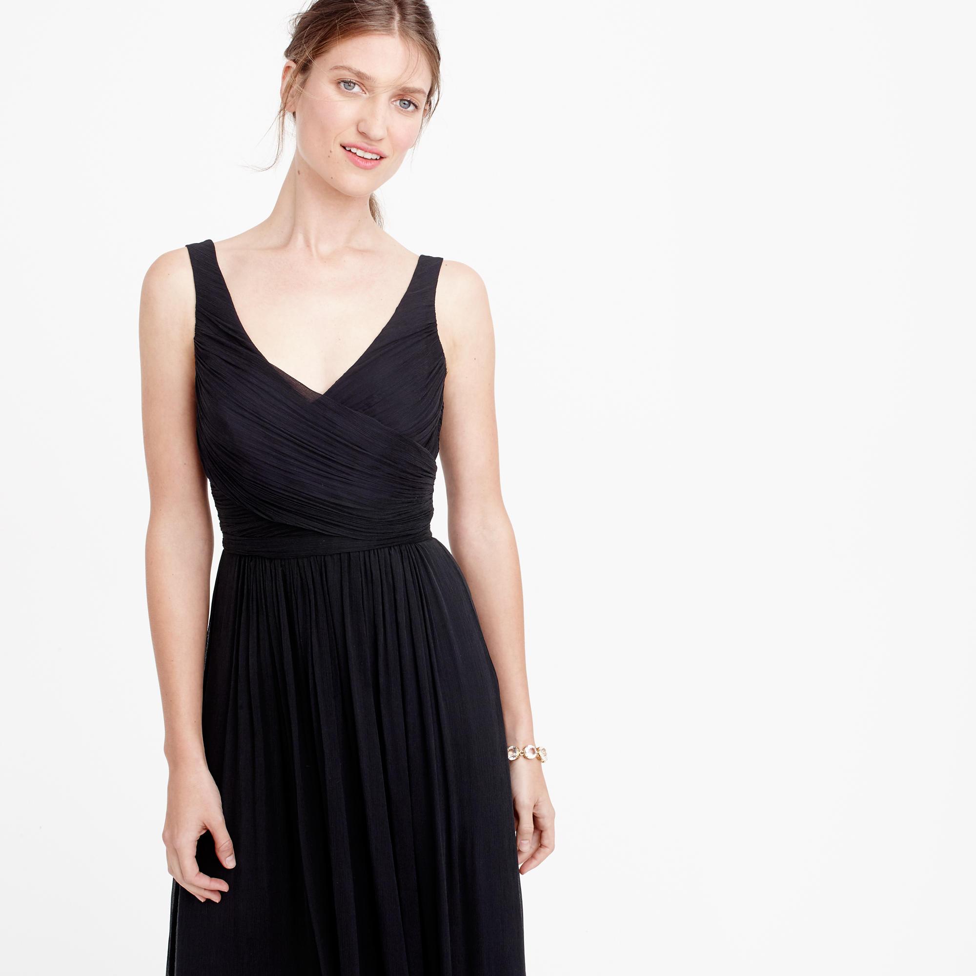 Heidi long dress in silk chiffon : Wedding sizes 16 to 20  J.Crew