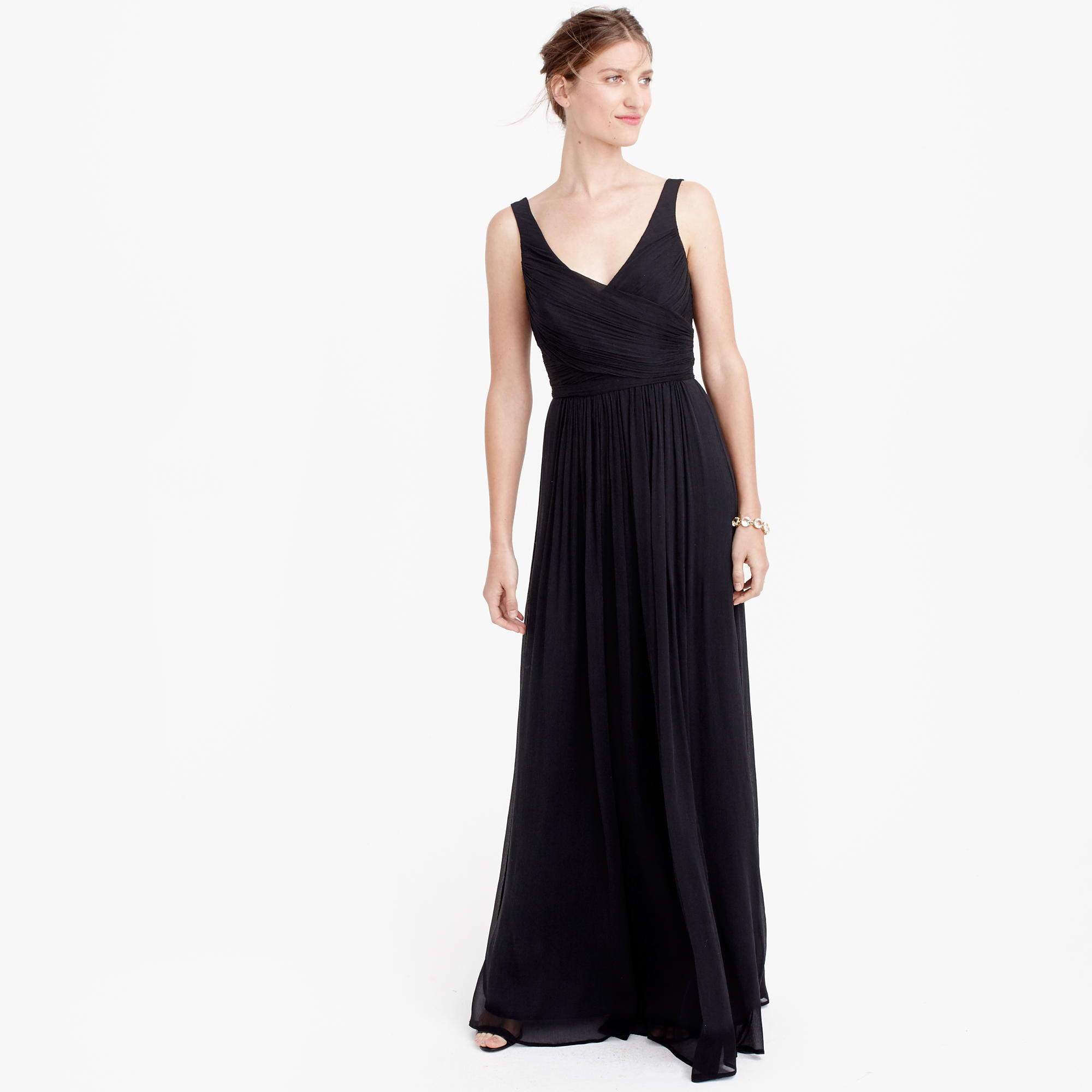 Heidi long dress in silk chiffon : Wedding sizes 16 to 20  J.Crew