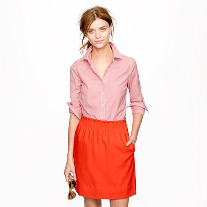 Stretch perfect shirt in mini-gingham