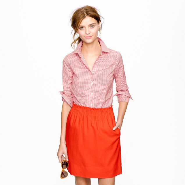 Stretch perfect shirt in mini-gingham