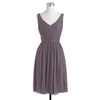 Petite Heidi dress in silk chiffon