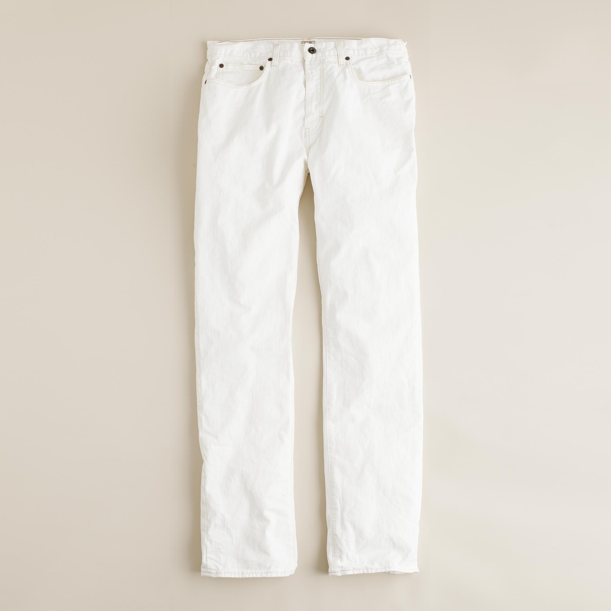 Slim-straight jean in antique white : | J.Crew
