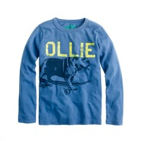 Boys' long-sleeve skate bulldog tee