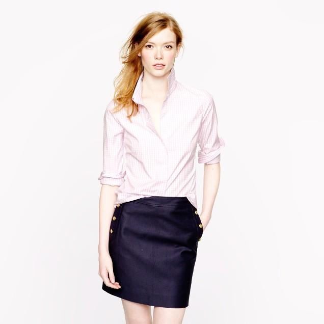 Stretch perfect shirt in medium gingham