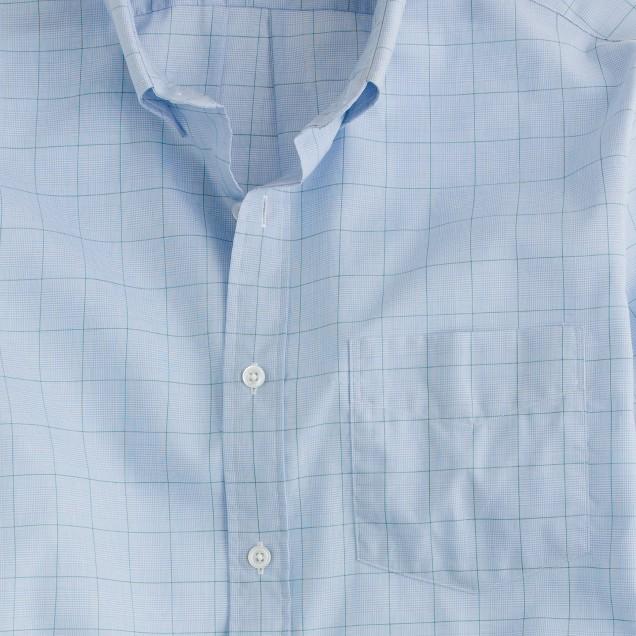 Thomas Mason® for J.Crew slim shirt in green point windowpane check