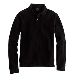 Slim long-sleeve classic piqué polo shirt