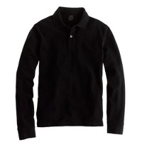 Tall long-sleeve classic piqué polo shirt