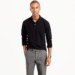 Long-sleeve classic piqué polo shirt