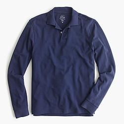 Slim long-sleeve classic piqué polo shirt