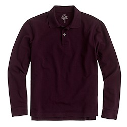 Long-sleeve classic piqué polo shirt
