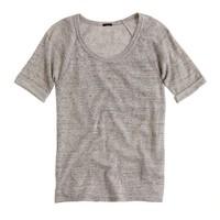 Fleece elbow-sleeve sweatshirt
